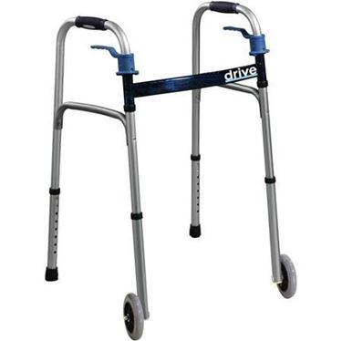 תמונה של הליכון למבוגרים מתקפל ובטיחותי עם גלגלים