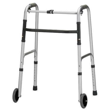 תמונה של הליכון מתקפל למבוגרים עם גלגלים