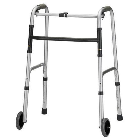 תמונה של הליכון מתקפל עם גלגלים