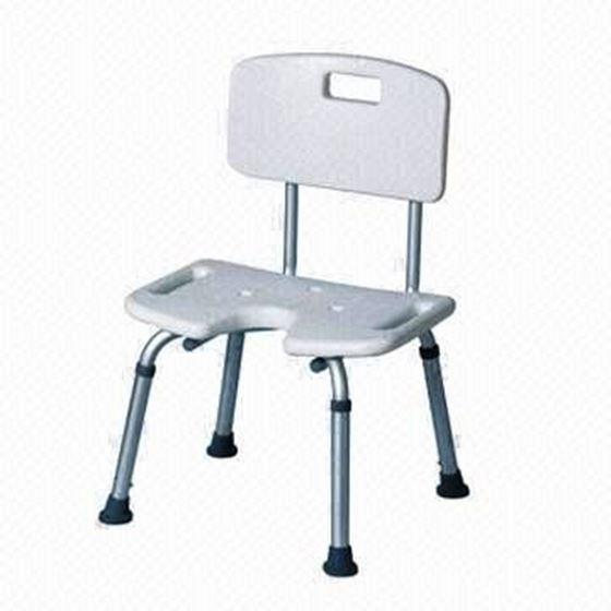 תמונה של כסא רחצה למבוגרים נוח ובטיחותי פתח U