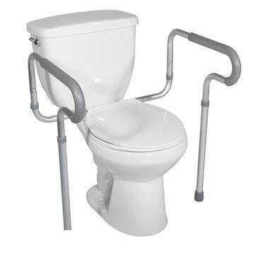 תמונה של מעקה עזר לשירותים