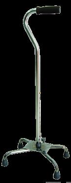 תמונה של מקל הליכה 4 רגליים בסיס רחב