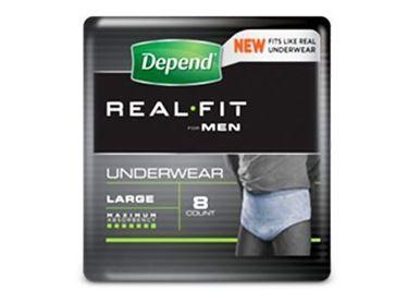 תמונה של תחתון סופג לגברים שקמה Depend Real Fit