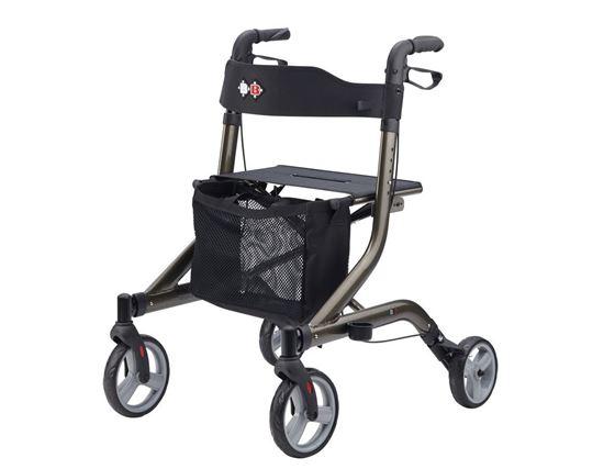 תמונה של רולטור 4 גלגלים מתקפל עם מושב