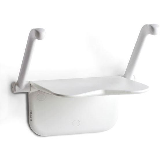 תמונה של כסא רחצה מתקפל לקיר | איטק 5 שנות אחריות