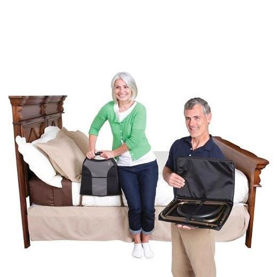 תמונה של מעקה בטיחות מתקפל למיטה