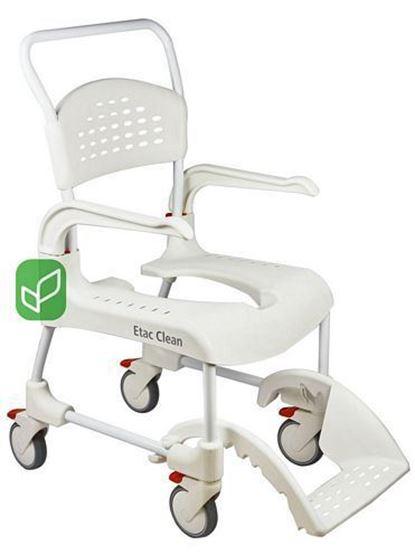 תמונה של כסא רחצה ושרותים עם גלגלים דגם clean קלין