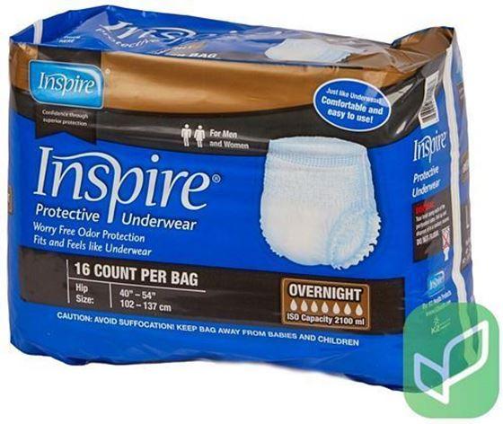 תמונה של תחתונים סופגים למבוגרים INSPIRE OVERNIGHT L