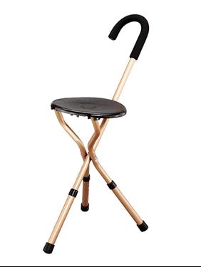 תמונה של מקל כסא מתקפל בעל 3 רגליים