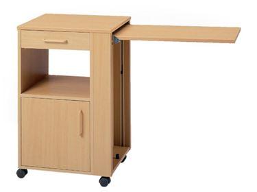 תמונה של שידה למיטה סיעודית עם שולחן