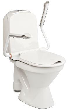 תמונה של ידית אחיזה לשירותים עם חיבור לאסלה