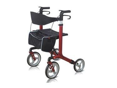 תמונה של רולטור 4 גלגלים קל ובעל קיפול כפול