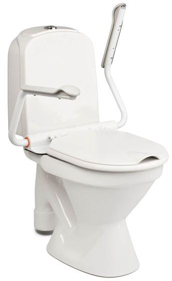 תמונה של מושב אסלה כולל ידיות אחיזה לשירותים איטק