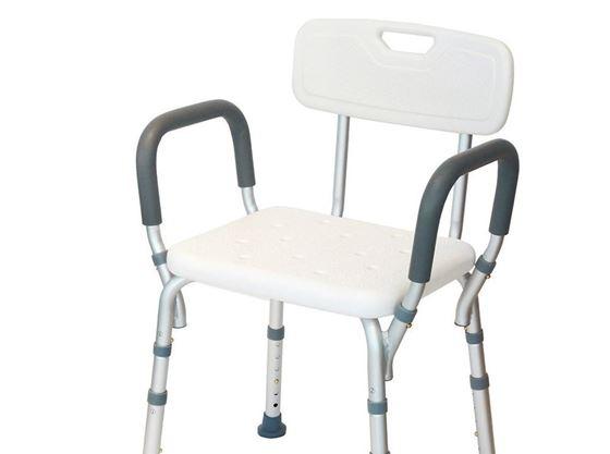תמונה של כיסא רחצה עם ידיות בתקן CE