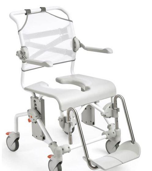 תמונה של כיסא רחצה ושירותים כולל תמיכה לגב איטק