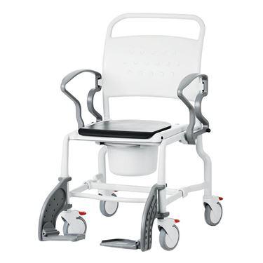 תמונה של כסא רחצה ושירותים רחב עם גלגלים תוצרת גרמניה