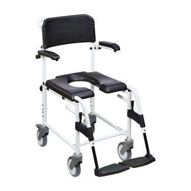 תמונה של כיסא רחצה ושירותים בעל ידיות ומושב מרופד תוצרת גרמניה