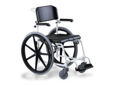 תמונה של כסא רחצה ושירותים להנעה עצמית MEYRA