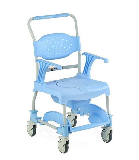 תמונה של כסא רחצה ושירותים עם גלגלים תוצרת אירופה MOEM